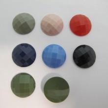 30 Cabochons Ronde Plat 20mm En Plastique mat