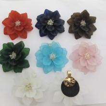 4 pendentifs fleur 63mm