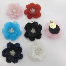 4 pendentifs fleur 52mm