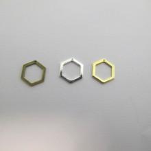 60 INTERCALAIRES HEXAGONES 10x9mm