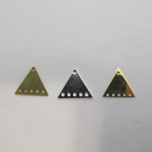 50 Sequin intercalaire triangles 15x13mm