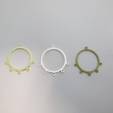 20 Intercalaire/Chandelier 3 anneaux forme ROND 33X32MM