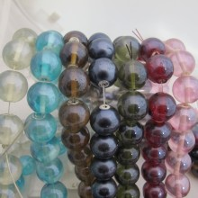 Perles en verre 18MM-Fil de 70 Centimetres+-46PCS