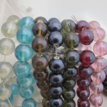 Perles en verre 18MM-Fil de 70cm 46PCS