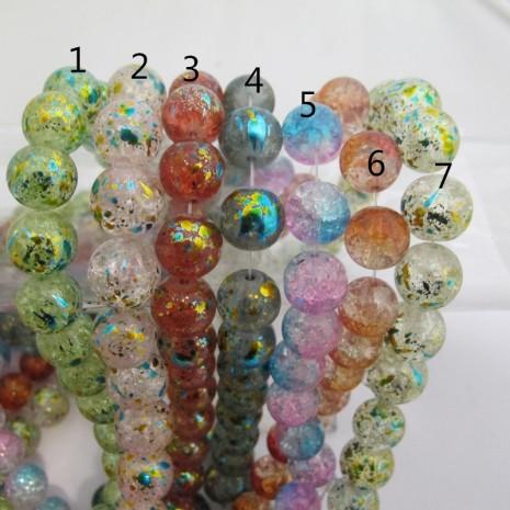 Perles en verre 8MM ET 14MM