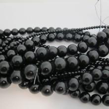 Black Glass Beads