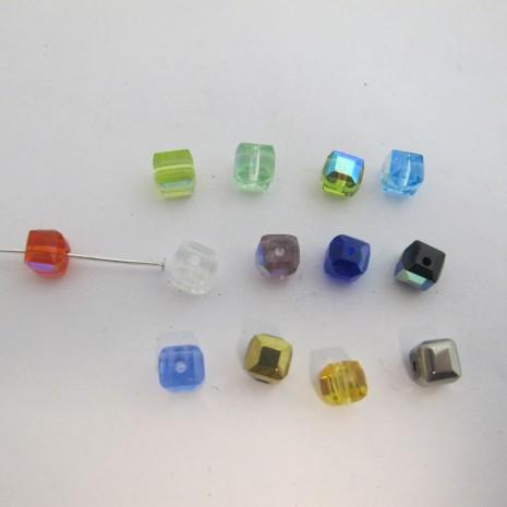 50 cube en verre 6mm couleur ab