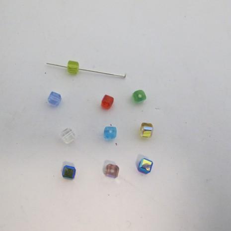 50 cube en verre 4mm couleur ab
