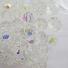facette rond en verre couleur cristal ab