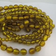 MURANO GLASS BEADS GOLD COLOR