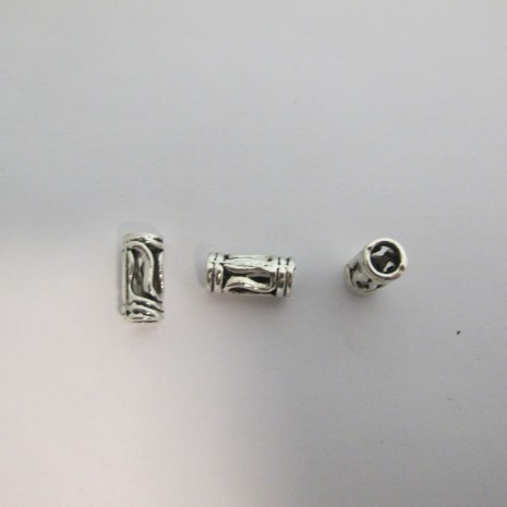 20 Perles En Métal 14X6mm TROU 5MM
