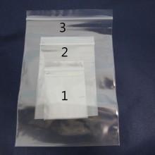 Plastic zip bag 4x6cm/6x9cm/10x15cm