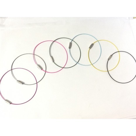 Bracelets câblé à viser 70mm
