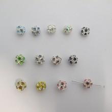 12 Boule filigranée strassée 8 mm