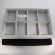 Velvet storage box with 8 compartments
