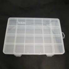 Boite de rangement plastique -24 cases 19x13x2cm