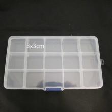 Boite de rangement plastique -15cases 17x9x2cm