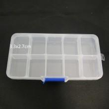 Boite de rangement plastique -10cases 13x7x2cm