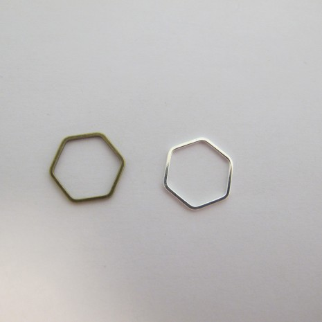100 INTERCALAIRES HEXAGONES 18X16MM