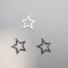 50 Star pendant 25x22mm