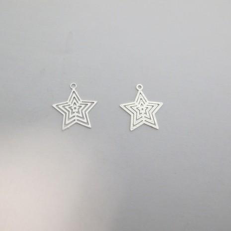 100 Estampes Étoile 16x15mm