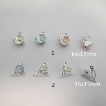 Strass flower charms