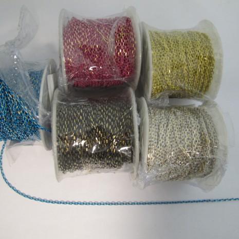 20 mts Chaînes colorées maille forçat 2.60x2.10mm