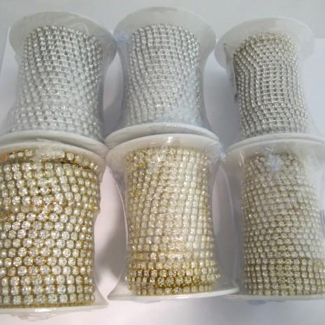 10 mts Chaîne strass en verre 2mm/3mm4mm