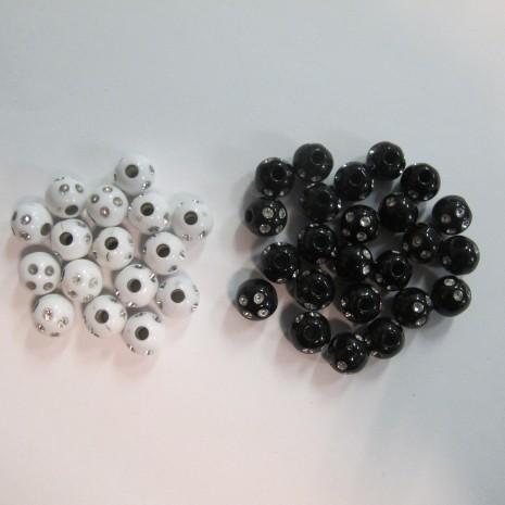 Perle de matière synthétique 8mm 125gm
