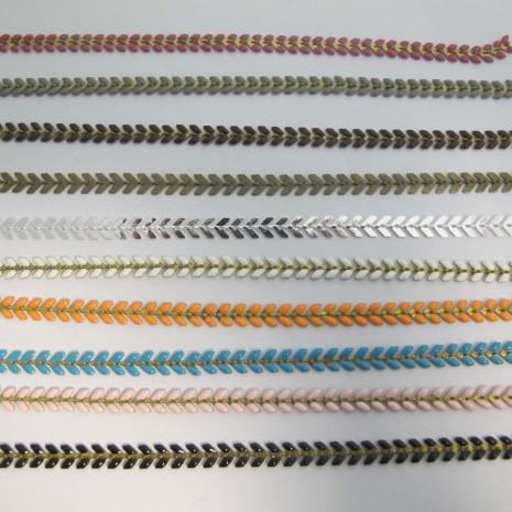 2 mts  Chaînes émaillées 6x6.5mm