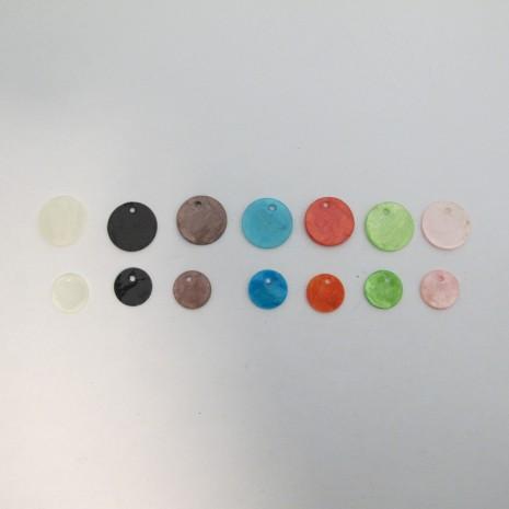 100 Ronds de nacre 15mm/11mm