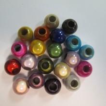 Magic beads round large hole 125gm