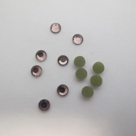 80 GM Strass thermocollant Hotfix perle à repasser mauve