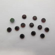 80 GM Strass thermocollant Hotfix perle à repasser marron
