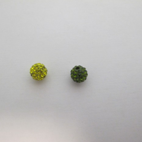 10 Boules Strass 8mm