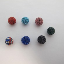 10 Boules Strass 10mm