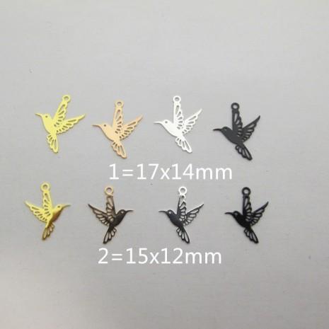 100 Estampes Papier Grue cut 17x14mm/15x12mm