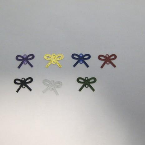 100 Estampes intercalaires Noeud Papillon laser cut 13x10mm