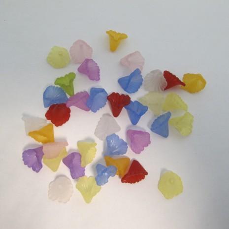 125 gm perles fleur en plastique 13x12mm
