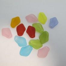 125 gm perles en plastique 24x17mm