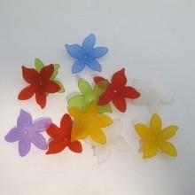 125 gm Plastic flower beads 27x25mm