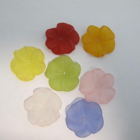 125 gm perles fleur en plastique 30x6mm