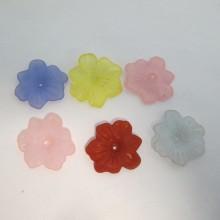 125 gm Plastic flower beads 29x5mm