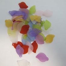 125 gm perles feuilles en plastique 17x11mm