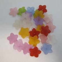125 gm Plastic flower beads 18x5mm