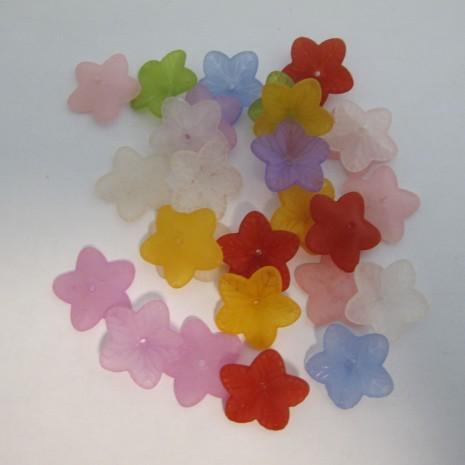 125 gm perles fleur en plastique 18x5mm