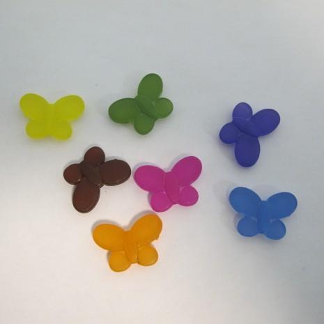 125 gm perles papillons en plastique 22x15mm