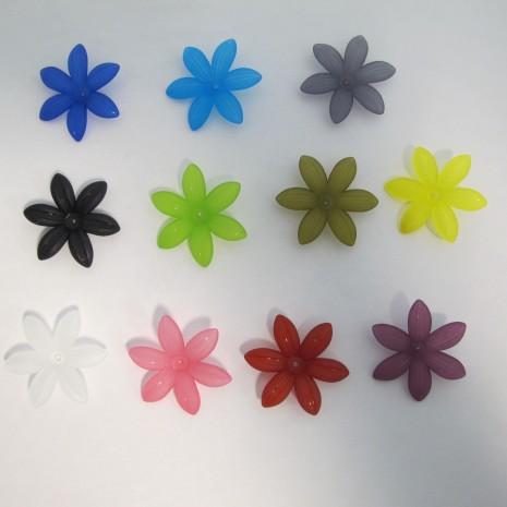 125 gm perles fleur en plastique 35x7mm