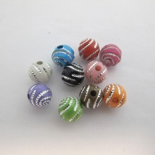 125 gm Plastic beads 8mm