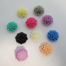 50 Cabochons fleur 21mm En Plastique